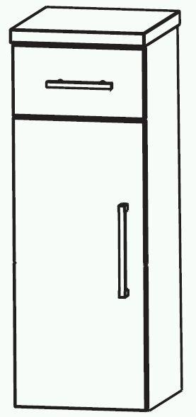 Puris Swing Bad-Highboard 30 cm breit HBA553A7M