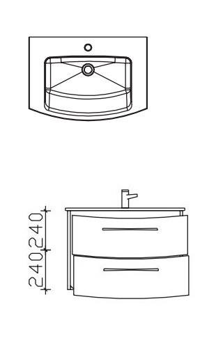 Pelipal Solitaire 7025 Waschtisch mit Unterschrank 72 cm breit