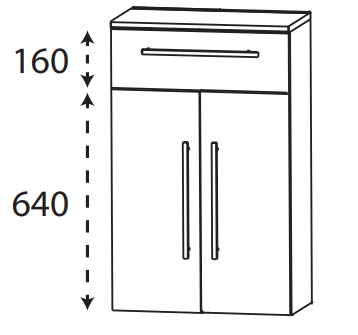 Puris Protection1 - Highboard HBA556A01 / 60 cm