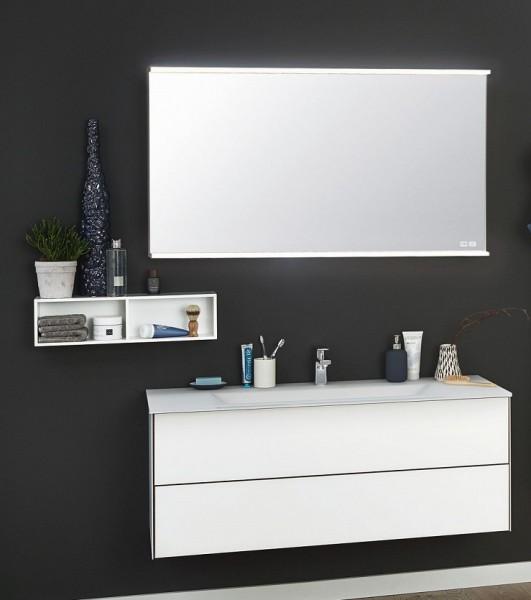 Puris Ice Line Badmöbel Set 122 cm breit mit Badspiegel