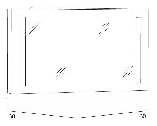 Marlin Bad 3130 - Azure Spiegelschrank 120 cm breit SFLS12