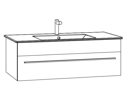 Marlin Bad 3260 Waschtisch mit Unterschrank WKHBS9 / 100 cm