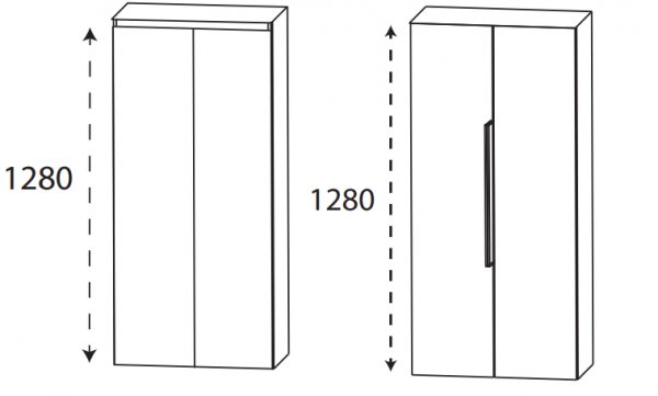 Puris 4Landa - Mittelschrank / 60 cm