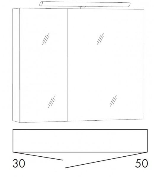 Marlin Bad 3110 Spiegelschrank 80 cm breit SALD8