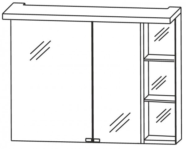Puris Crescendo Spiegelschrank 90 cm breit S2A439R26