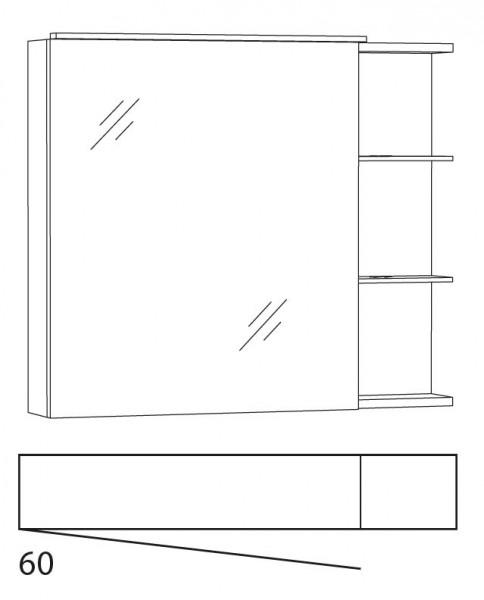 Marlin Bad 3130 - Azure Spiegelschrank 80 cm breit SFLAR8LL / SFLAR8RR