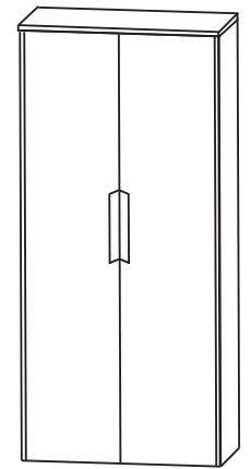 Puris d.light Bad-Mittelschrank 62,2 cm breit MNA816A D