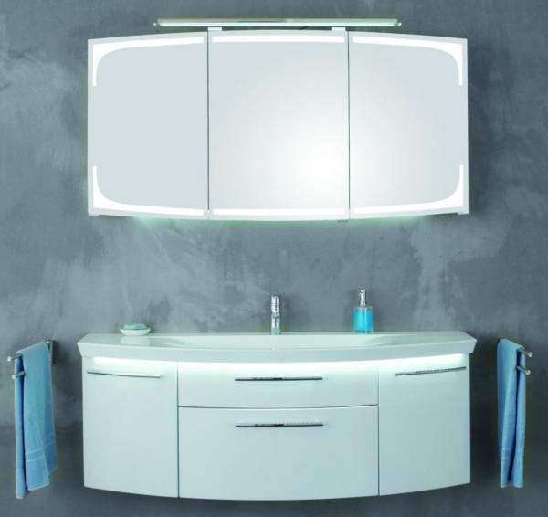 Puris Classic Line Badmöbel-Set 140 cm breit kombinierbar - mit Einzelwaschtisch
