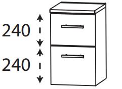 Puris Protection1 - Unterschrank UNA363A01 / 30 oder 40 cm