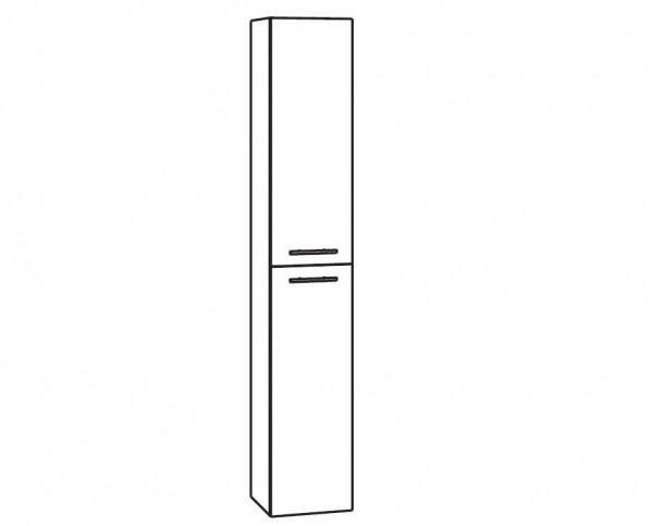 Marlin Bad 3130 - Azure Bad-Hochschrank 40 cm breit HTT4 / HFTT4
