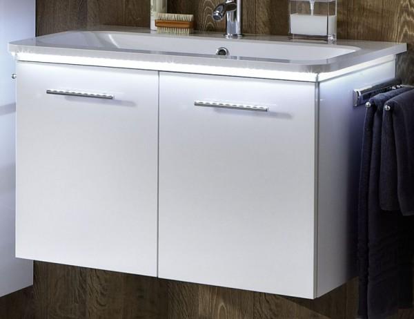 Marlin Bad 3020 - Life Waschtisch mit Unterschrank 100 cm breit, mit 2 Türen