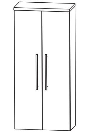 Puris Fine Line Bad-Mittelschrank 60 cm breit MNA816A7