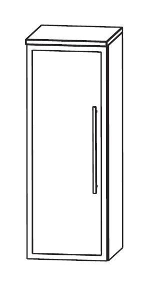 Puris WoW Bad-Highboard 30 cm breit HBA513B