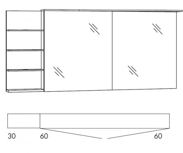 Marlin Bad 3160 - Motion Spiegelschrank 150 cm breit SAOSR66/SAOSR66LS/SAOZR66/SAOZR66LS