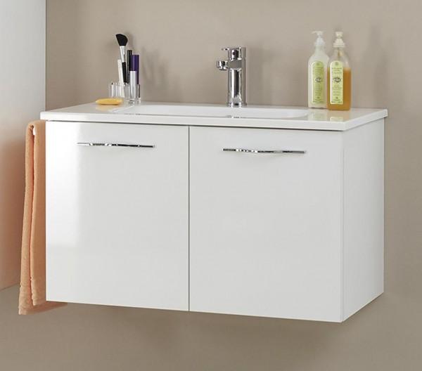 Pelipal Solitaire 6110 Waschtisch mit Unterschrank 80 cm breit - 2 Drehtüren