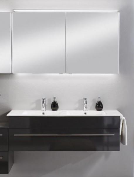 Marlin Bad 3260 Badmöbelset mit Spiegelschrank und Doppelwaschtisch / 120 cm