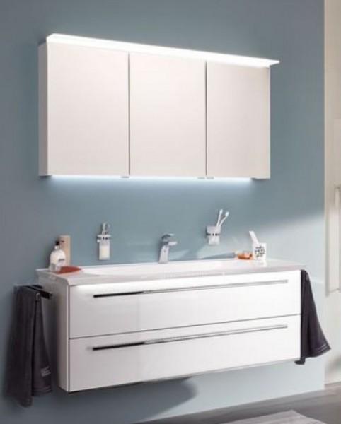 b.bright - Badmöbel-Set 120 cm breit inkl. Spiegelschrank / gerade Form