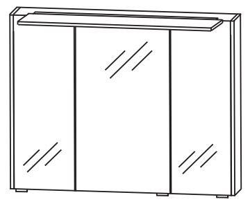 Puris d.light Bad-Spiegelschrank 72 cm breit SET437D02
