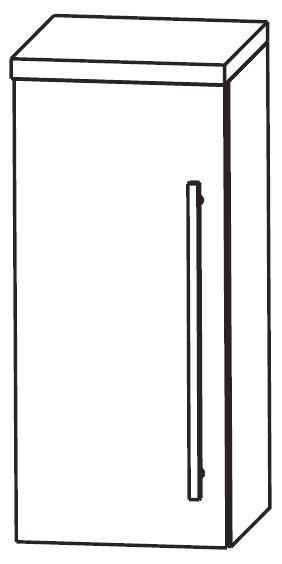 Puris Star Line Bad-Oberschrank 30 cm breit OGA413A7