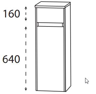 Puris Xpression - Highboard HBA553DGL - 30 cm