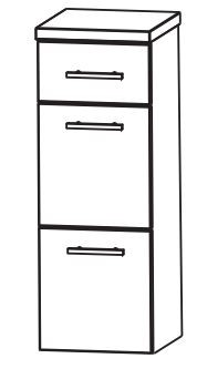 Puris Kao Line Bad-Highboard 30 cm breit HBA563A7M