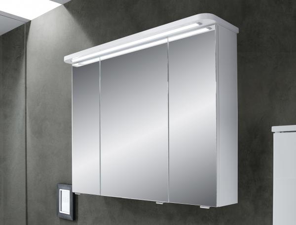 Pelipal Fokus 4005 Spiegelschrank 90 cm breit mit Kranzbeleuchtung 992.819003 / 992.829003