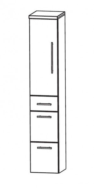 Puris Speed Bad-Hochschrank 30 cm breit HNA093A