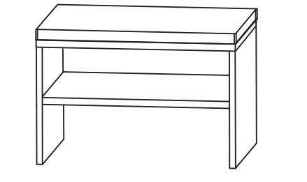 Puris Speed Bad-Sitzbank 60 cm breit SETBANK6