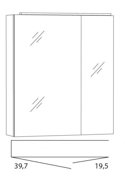 Marlin Bad 3040 - CityPlus Spiegelschrank 60 cm breit SLLB6