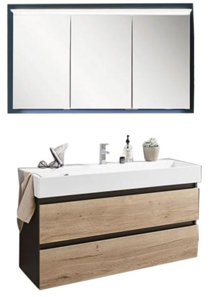 Puris 4Landa - Set mit Einzelwaschtisch und Spiegelschrank / schnell lieferbar