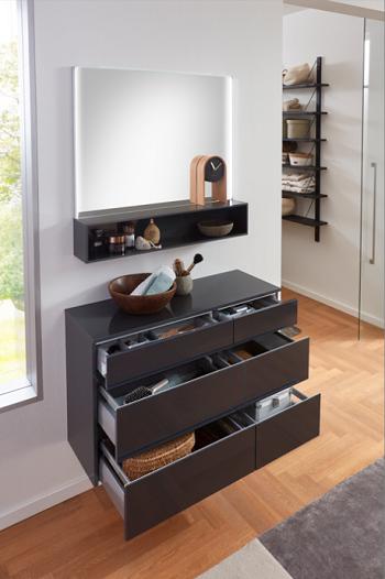 Marlin Bad 3390 - Badmöbelset 100 cm / mit Unterschränken und Flächenspiegel