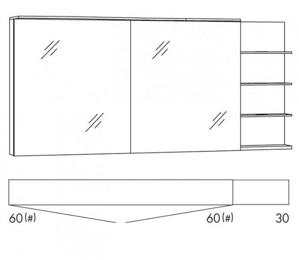 marlin bad 3160 motion spiegelschrank 150 cm breit saos66r saos66rls saoz66r saoz66rls. Black Bedroom Furniture Sets. Home Design Ideas