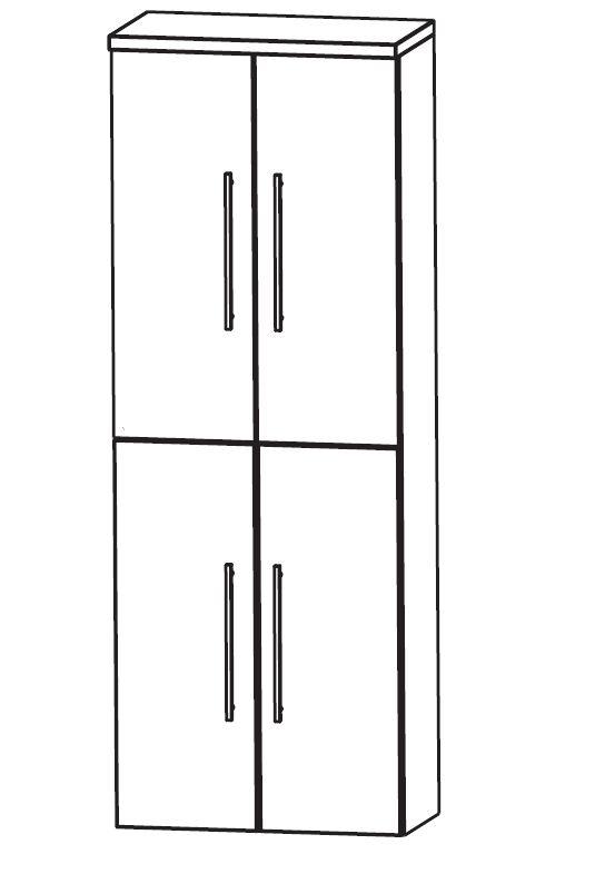 puris classic line bad hochschrank 60 cm breit hna036a7. Black Bedroom Furniture Sets. Home Design Ideas