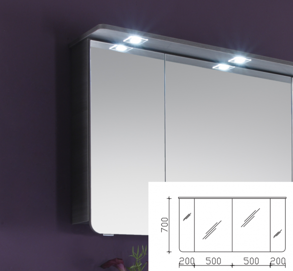 Pelipal solitaire 6005 spiegelschrank 140 cm breit ag sps for Spiegelschrank 30 cm breit