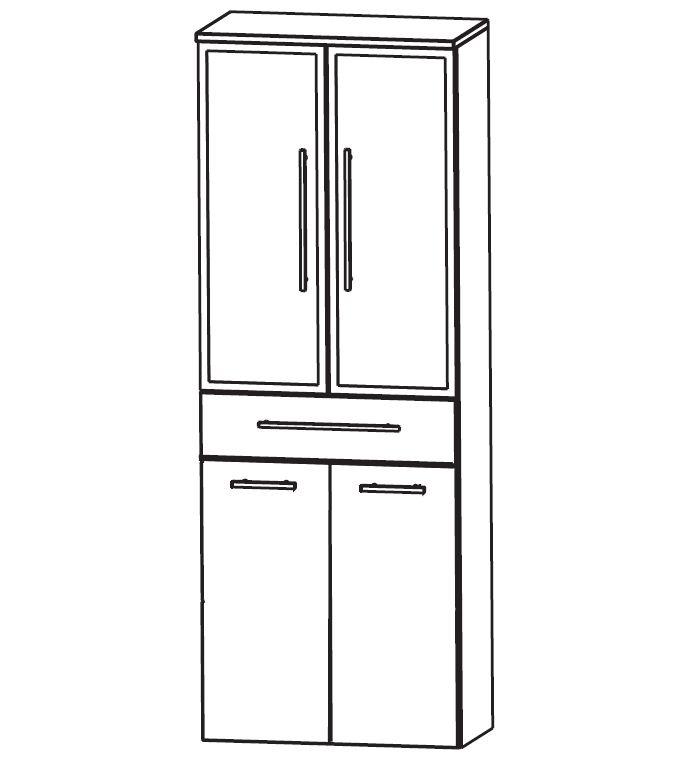 puris classic line bad hochschrank mit w schekippe 60 cm. Black Bedroom Furniture Sets. Home Design Ideas