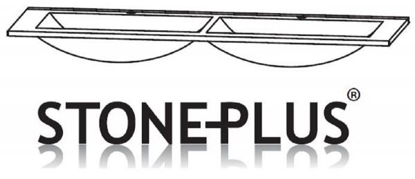 Puris Cool Line STONEPLUS Doppelwaschtisch 122 cm breit