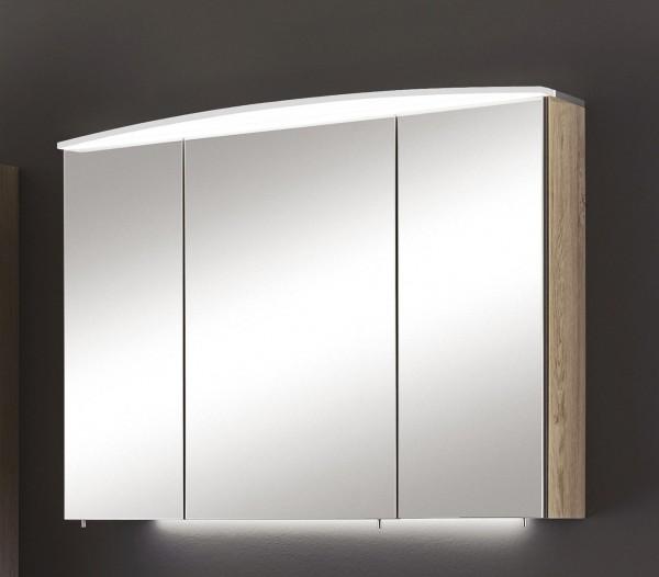 Marlin Bad 3040 - CityPlus Spiegelschrank 90 cm breit SAOE9 in Weiß Glanz