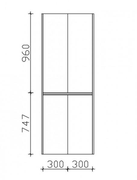 Pelipal Solitaire 6040 Bad-Hochschrank mit 4 Drehtüren / 63 cm HLT016017