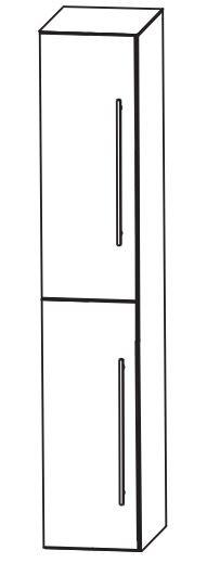 Puris Fine Line Bad-Hochschrank 30 cm breit HNA0330 L/R