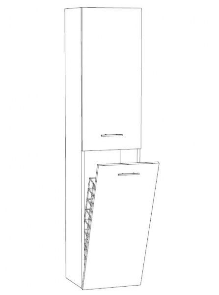 Marlin Bad 3020 - Life Bad-Hochschrank 40 cm breit HTW4, mit Wäschekippe