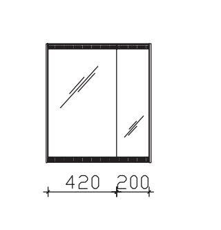 Pelipal Solitaire 7025 Spiegelschrank 64 cm breit SEED00264