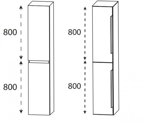 Puris 4Landa - Hochschrank / 30 cm