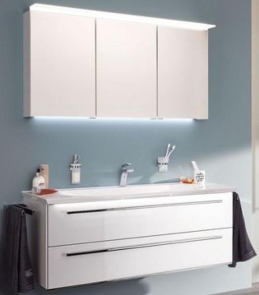 b.bright - Badmöbel-Set 140 cm breit inkl. Spiegelschrank / gerade Form