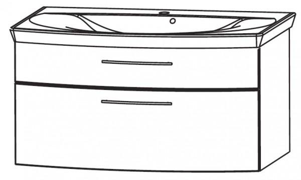 Puris Vuelta Waschtisch mit Unterschrank 90 cm breit SETVU90 1