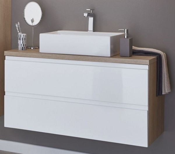 puris variado 2 0 aufsatzwaschtisch mit unterschrank 100 6 cm breit badm bel 1. Black Bedroom Furniture Sets. Home Design Ideas
