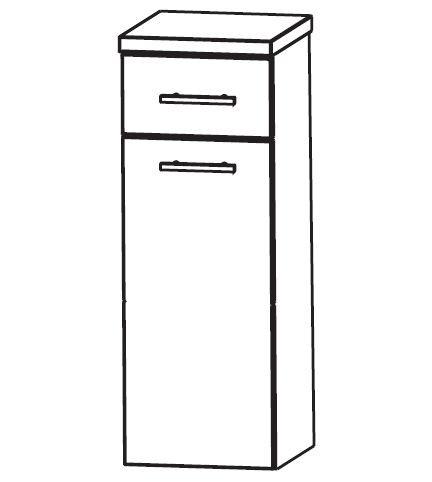 Puris Classic Line Bad-Highboard mit Wäschekippe 30 cm breit HBA553A7W