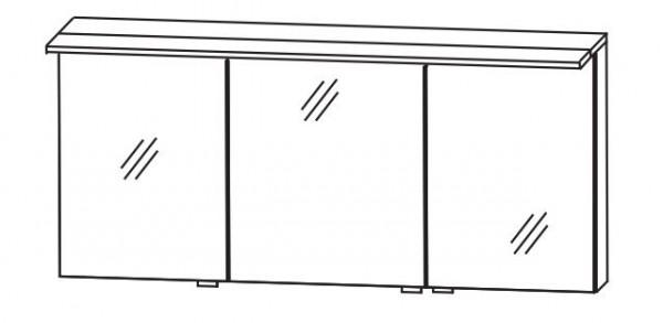 b.straight - Spiegelschrank inkl. Beleuchtung 120 cm breit