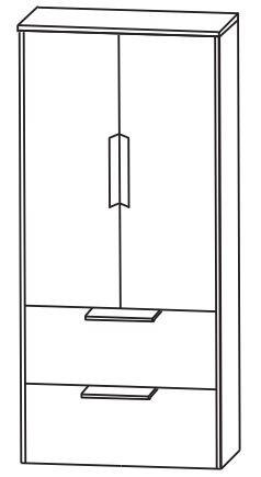 Puris d.light Bad-Mittelschrank 62,2 cm breit MNA876A D
