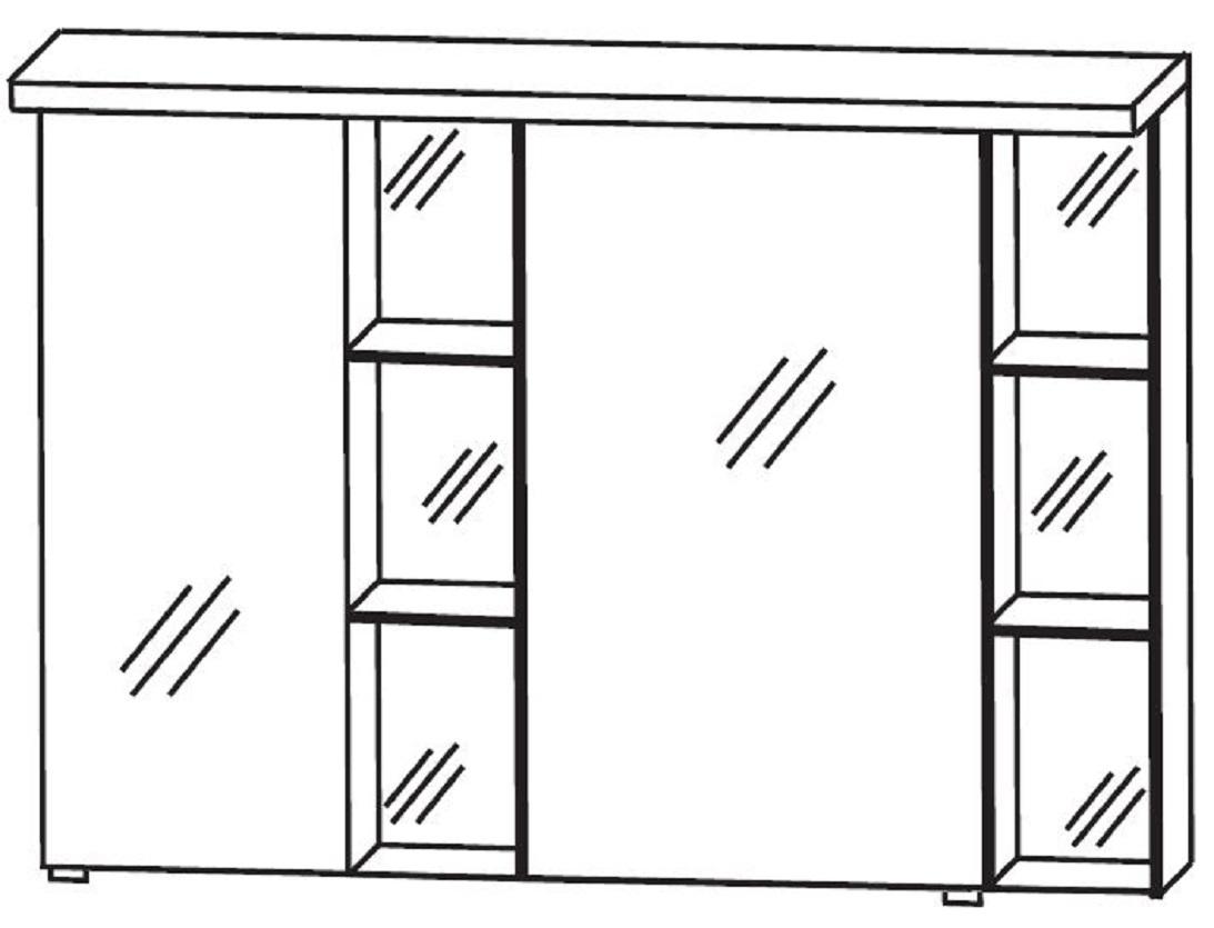 puris linea bad spiegelschrank 100 cm breit s2a42l1s1. Black Bedroom Furniture Sets. Home Design Ideas