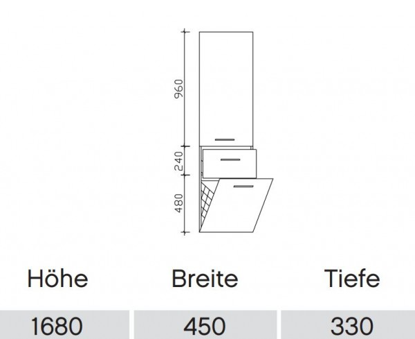 pelipal solitaire 9025 bad hochschrank 9025 hsw 45 mit. Black Bedroom Furniture Sets. Home Design Ideas